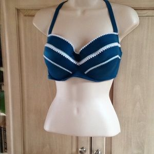 Shade & Shore Bikini Top 38 D NWOT